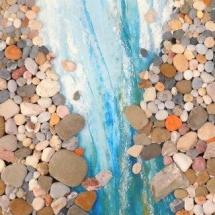 Collage aus Flußsteinen